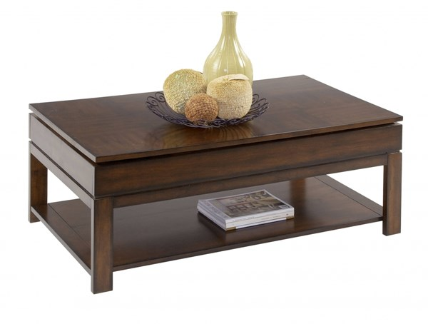 Miramar Cherry Veneer Wood MDF Castered Sliding-Top Cocktail Table PRG-P412-01