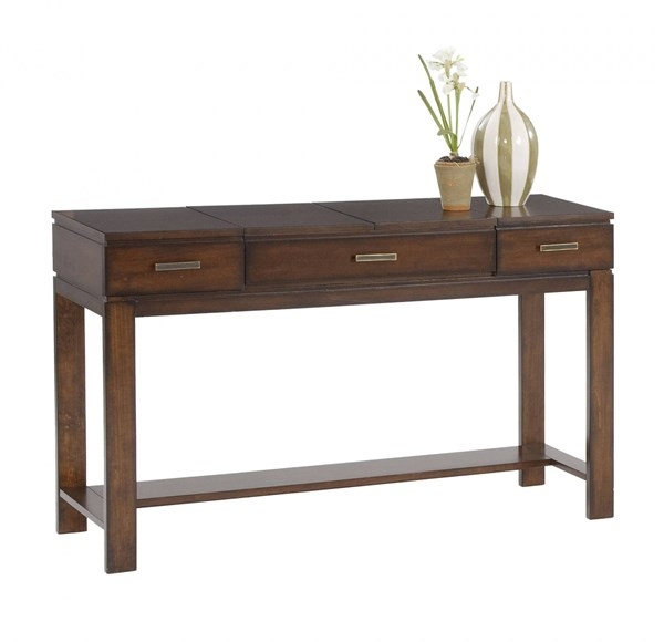 Miramar Contemporary Birch Cherry Veneer Wood MDF Sofa Table / Desk PRG-P412-05