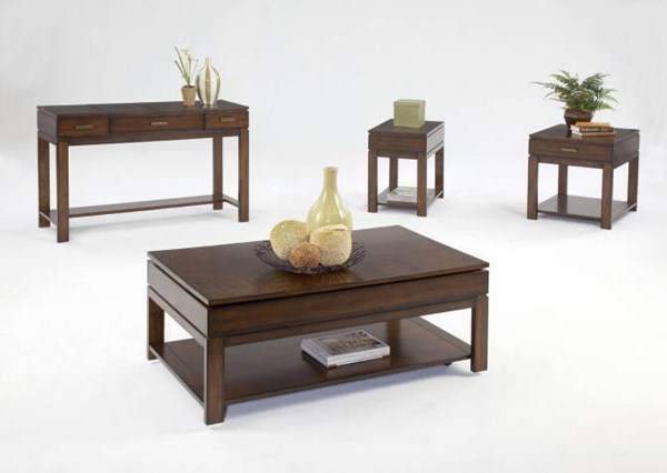 Miramar Contemporary Birch Cherry Veneer Wood MDF Coffee Table Set PRG-P412-OCT
