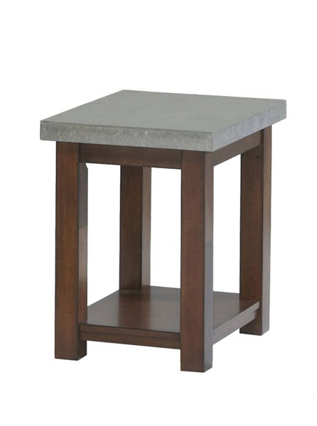 Cascade Contemporary Nutmeg Birch Cement MDF Square Lamp Table PRG-P426-02