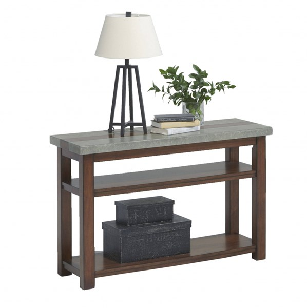Cascade Contemporary Nutmeg Birch Cement MDF Sofa / Console Table PRG-P426-05