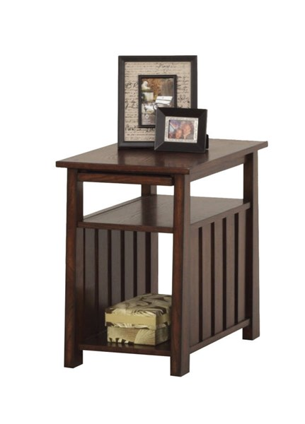 Mountain Mission Country Dark Ash Wood Chairside Table PRG-P473-29