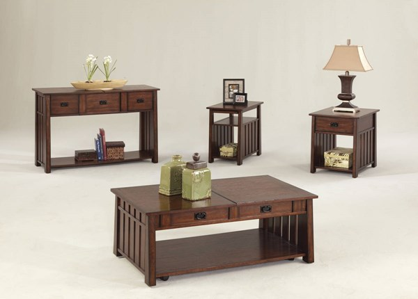 Mountain Mission Country Ash Wood Sliding Lift Top Coffee Table Set PRG-P473-OCT