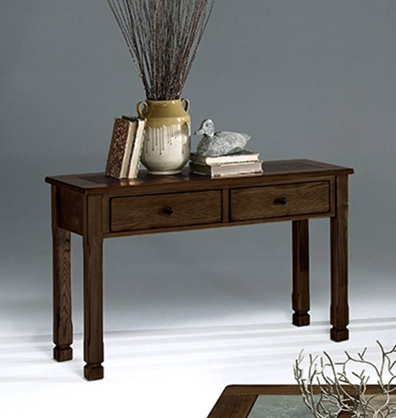Rustic Ridge II Country Mesa Brown Slate Wood Sofa / Console Table PRG-P478-05