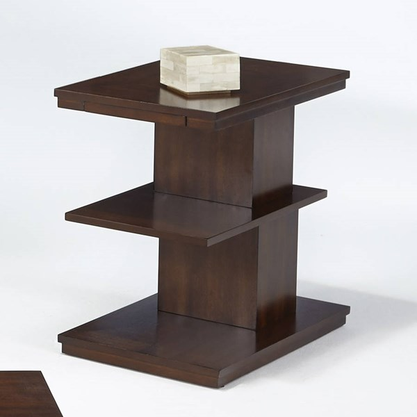 Waterfall Contemporary Bright Medium Birch MDF Chairside Table PRG-P506-29