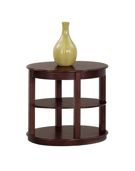 Sebring Contemporary Medium Ash Rubberwood Oval End Table PRG-P543-03