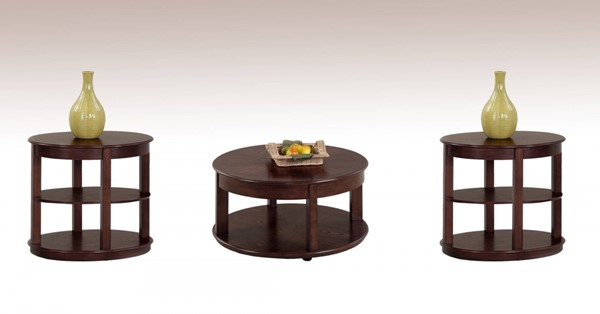 Sebring Contemporary Ash Rubberwood 3pc Round Coffee Table Set PRG-P543-48-03