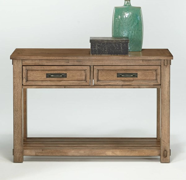 Boulder Creek Transitional Pecan Rubberwood MDF Sofa/Console Table PRG-P549-05
