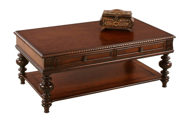Progressive Furniture Mountain Manor Heritage Cherry Cocktail Table PRG-P587-01