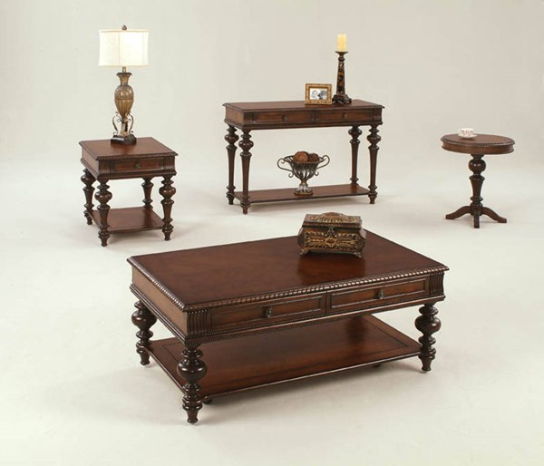 Mountain Manor Traditional Heritage Cherry Wood Coffee Table Set PRG-P587-OCT