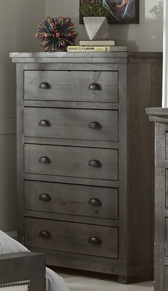 Progressive Furniture Willow Distressed Dark Gray Chest PRG-P600-14