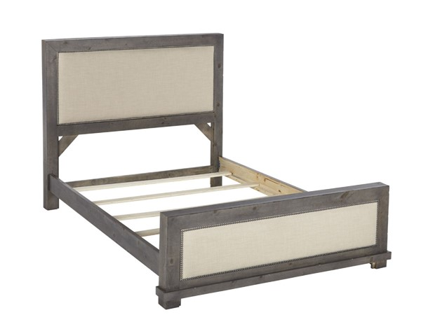 Progressive Furniture Willow Gray Queen Upholstered Bed PRG-P600-34-35-78