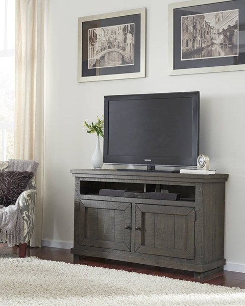 Progressive Furniture Willow Distressed Dark Gray 54 Inch Console PRG-P600E-54