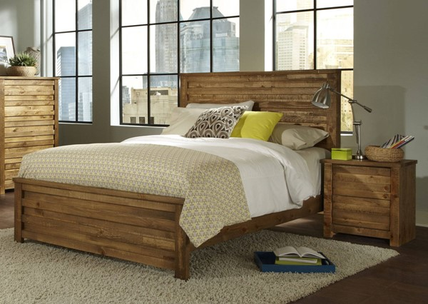 Progressive Furniture Melrose Driftwood 2pc Bedroom Set with King Bed PRG-P604-BR-S1