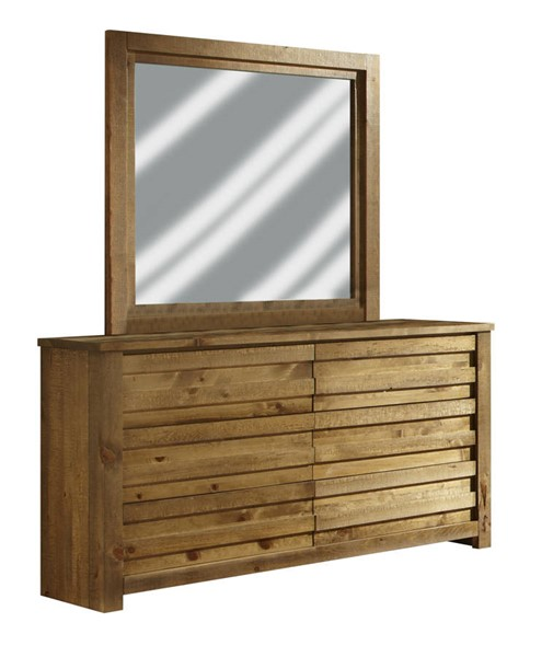 Progressive Furniture Melrose Driftwood Dresser and Mirror PRG-P604-23-50