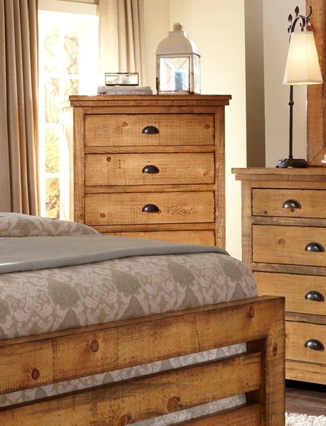 Willow Casual Distressed Pine Wood Chests PRG-P608-14-VAR