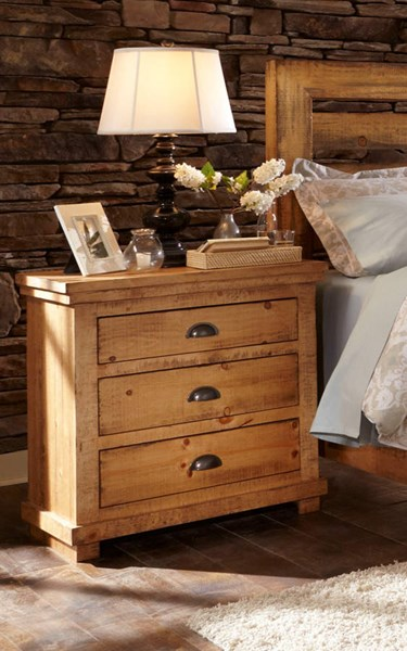 Willow Casual Distressed Pine Wood Nightstands PRG-P608-43-VAR