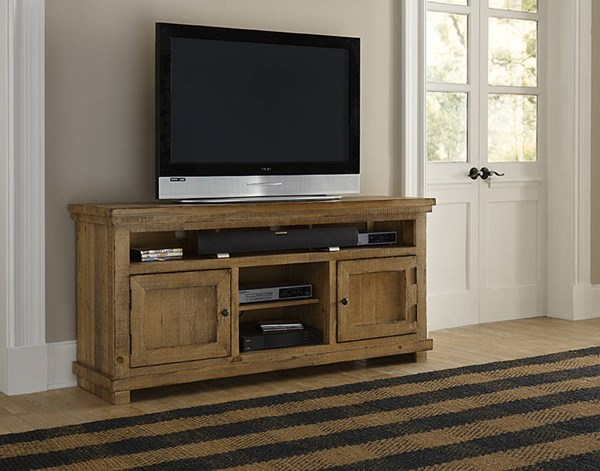 Willow Casual Distressed Pine Solid Veneers 64 Inch Console PRG-P608E-64