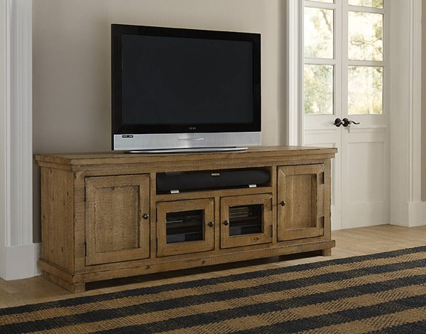Willow Casual Pine Solid Wood Veneers 74 Inch Consoles PRG-P608E-VAR