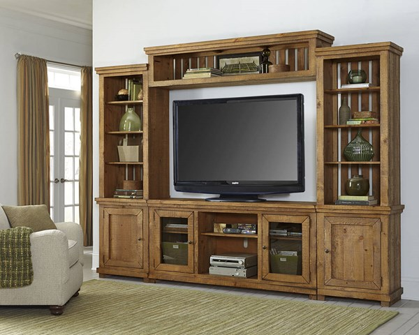 Progressive Furniture Willow Distressed Pine Wall Unit with TV Stand PRG-P608E-20-22-68-90