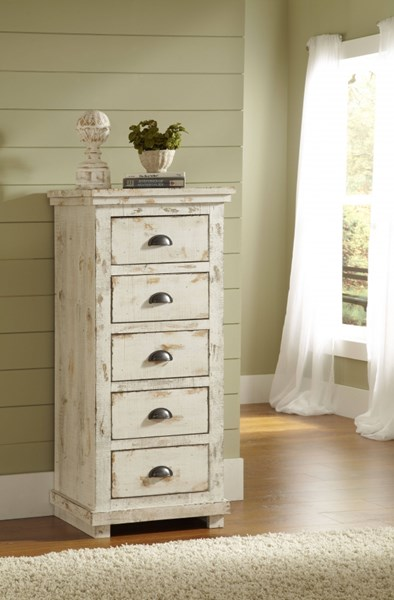 Willow Casual Distressed White Solid Wood MDF Lingerie Chest PRG-P610-13