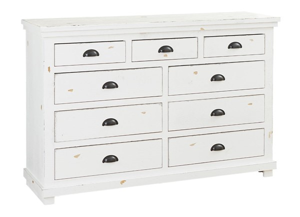 Progressive Furniture Willow Distressed White Drawer Dresser PRG-P610-23