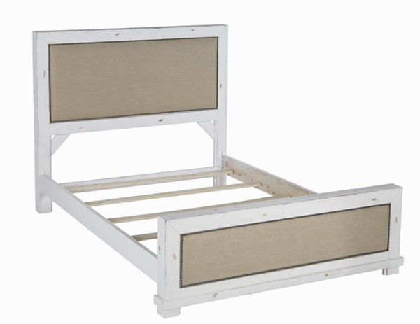Progressive Furniture Willow Distressed White Full Upholstered Bed PRG-P610-32-33-27