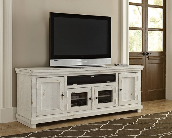 Progressive Furniture Willow Distressed White 74 Inch Console PRG-P610E-74