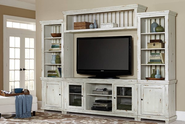 Progressive Furniture Willow White Wall Unit With TV Stand PRG-P610E-20-22-68-90