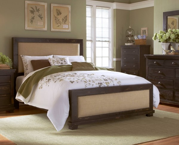 Willow Casual Black Solid Wood MDF King Upholster Headboard PRG-P612-94
