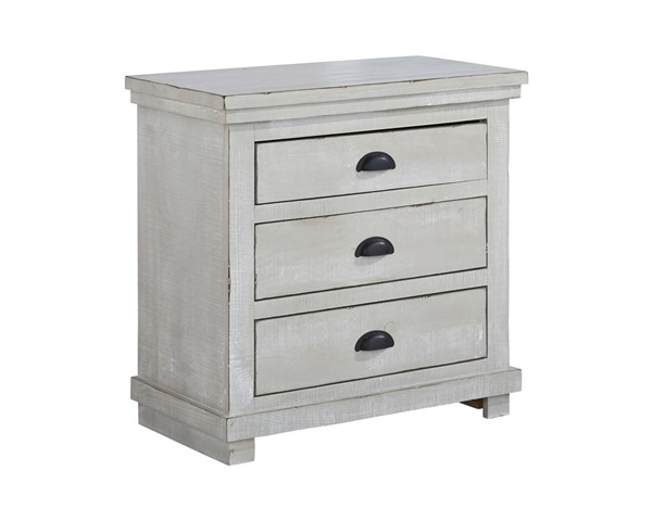 Progressive Furniture Willow Gray Chalk Nightstand PRG-P615-43