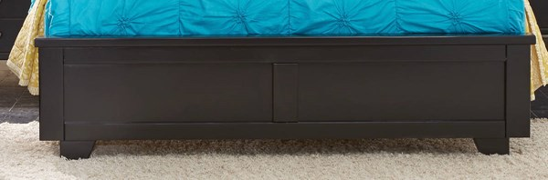 Diego Casual Black Solid Wood Queen Footboard PRG-P619-35