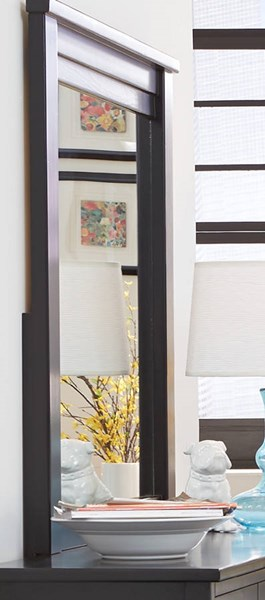 Diego Casual Black Solid Wood Mirror PRG-P619-50