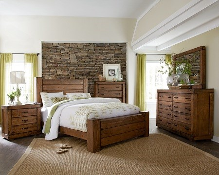 Maverick Rustic Wood Ches 2pc Bedroom Sets PRG-P626-BR-S