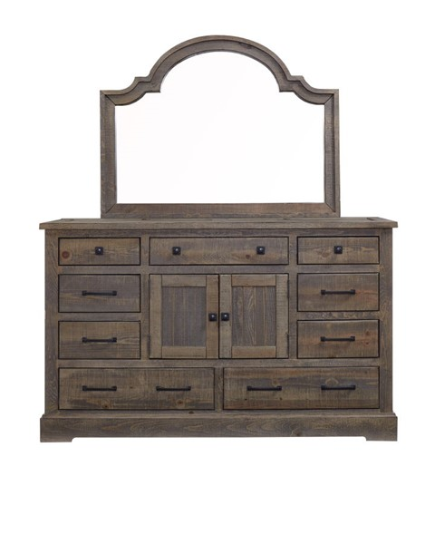 Progressive Furniture Meadow Weathered Gray Dresser and Mirror PRG-P632-24-50