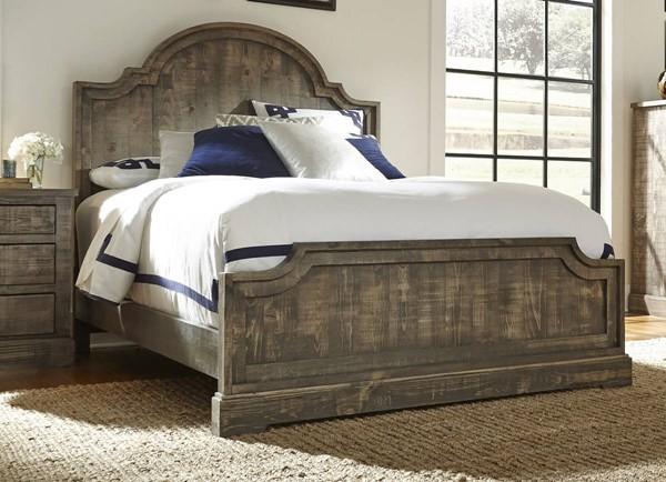 Meadow Casual Weathered Gray Solid Wood MDF King Panel Headboard PRG-P632-94