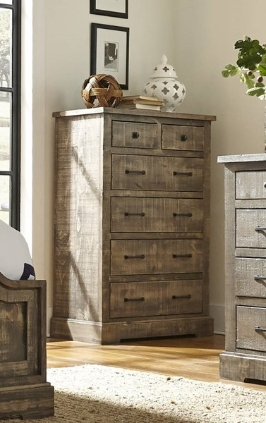 Meadow Casual Weathered Gray Solid Wood MDF Drawer Chest PRG-P632-14