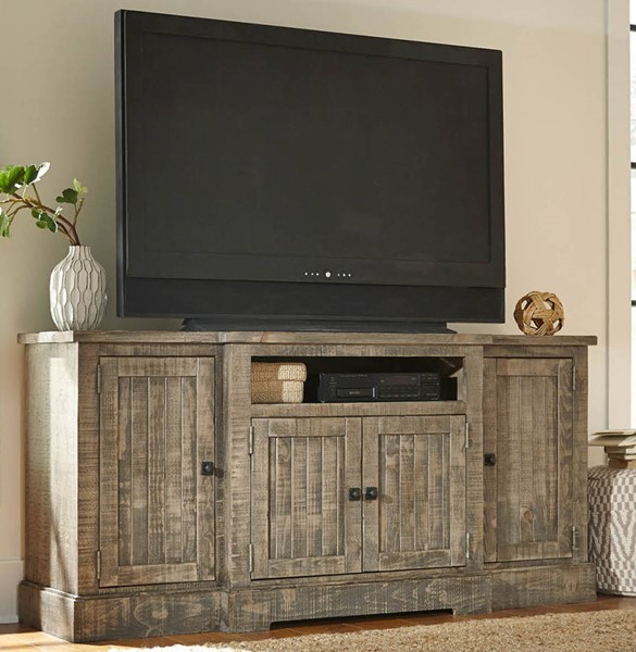 Meadow Casual Weathered Gray Solid Wood MDF 72 Inch Console PRG-P632E-72