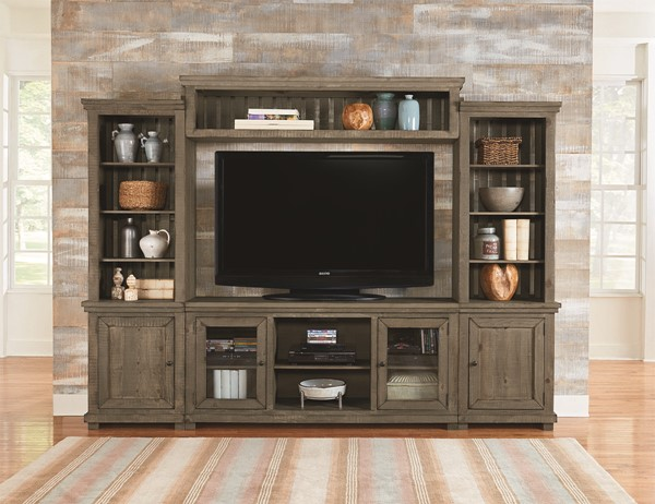 Progressive Furniture Willow Weathered Gray Wall Unit With TV Stand PRG-P635E-20-22-68-90