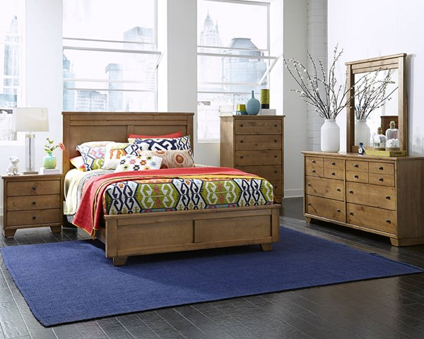Diego Casual Dune Wood MDF 2pc Bedroom Set W/King Bed PRG-P658-BR-S2