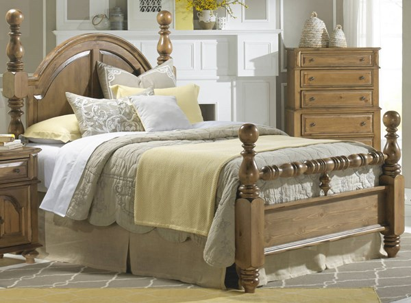 Surrey Bay Traditional Dune Wood MDF King Poster Footboard PRG-P698-66