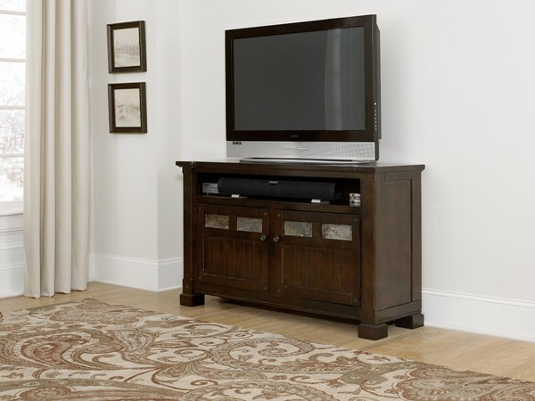 Telluride Rustic Mesa Brown Solid Wood 54 Inch Console PRG-P730-54