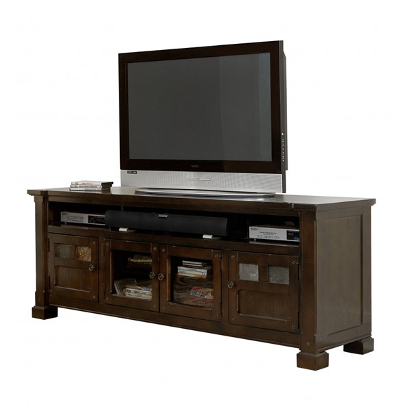 Telluride Rustic Mesa Brown Solid Wood 74 Inch Console PRG-P730-74