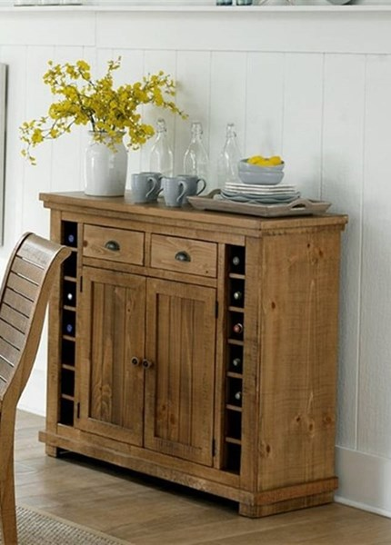 Willow Casual Distressed Pine Wood Server PRG-P808-56