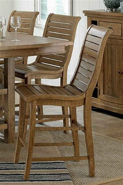 2 Willow Casual Distressed Pine Rubberwood Counter Chairs PRG-P808-63