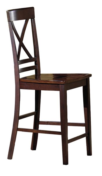 2 Winston Transitional Espresso Rubberwood Counter Dining Chairs PRG-P810-63
