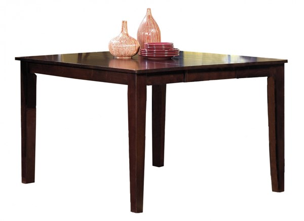 Winston Transitional Espresso Rubberwood Counter Dining Table PRG-P810-12T