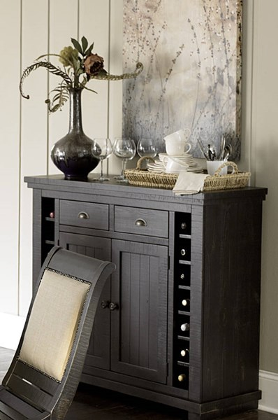 Willow Casual Distressed Black Rubberwood Server PRG-P812-56