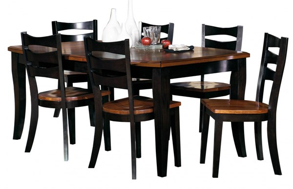 Jake Transitional Black Oak Solid Wood Dining Room Set PRG-P819-DR