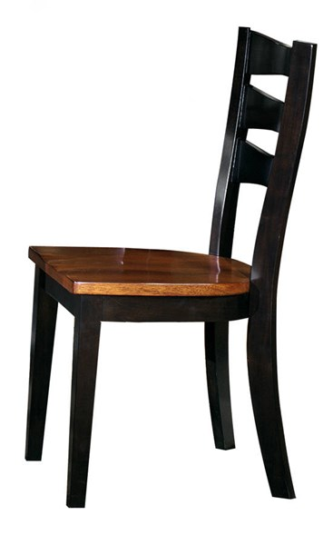 2 Jake Transitional Black Oak Solid Wood Dining Chairs PRG-P819-61